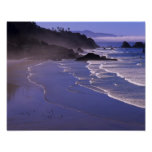 OR, Oregon Coast, Ecola SP, Indian Beach with Poster