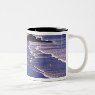 OR, Oregon Coast, Ecola SP, Indian Beach with Two-Tone Coffee Mug