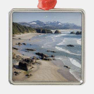 OR, Oregon Coast, Ecola State Park, Crescent 2 Metal Ornament
