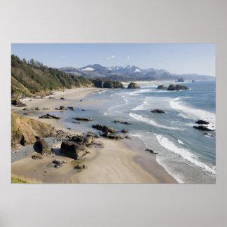 OR, Oregon Coast, Ecola State Park, Crescent 2 Poster