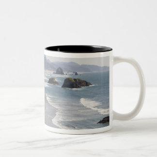 OR, Oregon Coast, Ecola State Park, Crescent Two-Tone Coffee Mug