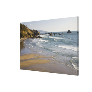 OR, Oregon Coast, Ecola State Park, Indian Canvas Print