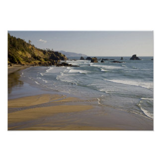 OR, Oregon Coast, Ecola State Park, Indian Poster