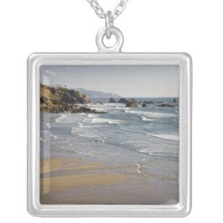 OR, Oregon Coast, Ecola State Park, Indian Square Pendant Necklace