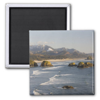 OR, Oregon Coast, Ecola State Park, view of 2 2 Inch Square Magnet
