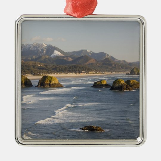 OR, Oregon Coast, Ecola State Park, view of 2 Metal Ornament