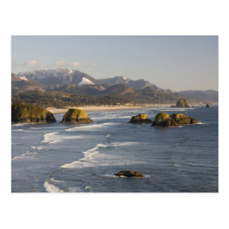 OR, Oregon Coast, Ecola State Park, view of 2 Postcard