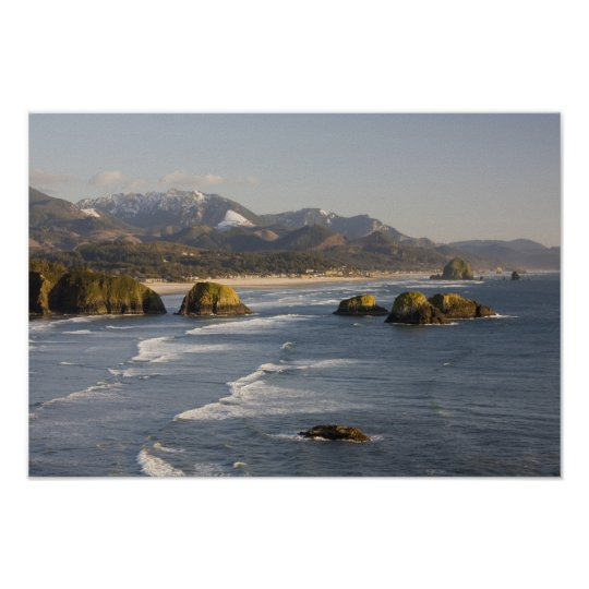 OR, Oregon Coast, Ecola State Park, view of 2 Poster