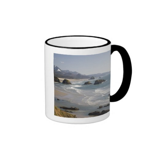 OR, Oregon Coast, Ecola State Park, view of Ringer Coffee Mug