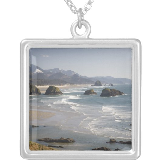 OR, Oregon Coast, Ecola State Park, view of Silver Plated Necklace