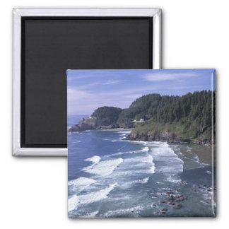 OR, Oregon Coast, Heceta Head Lighthouse, on 2 Inch Square Magnet