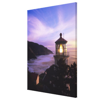 OR, Oregon Coast, Heceta Head Lighthouse, on Canvas Print