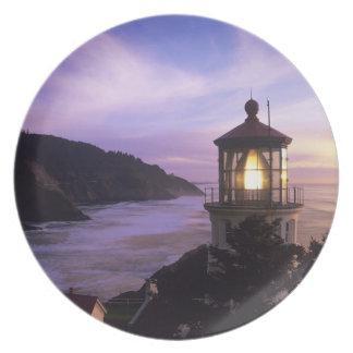 OR, Oregon Coast, Heceta Head Lighthouse, on Melamine Plate