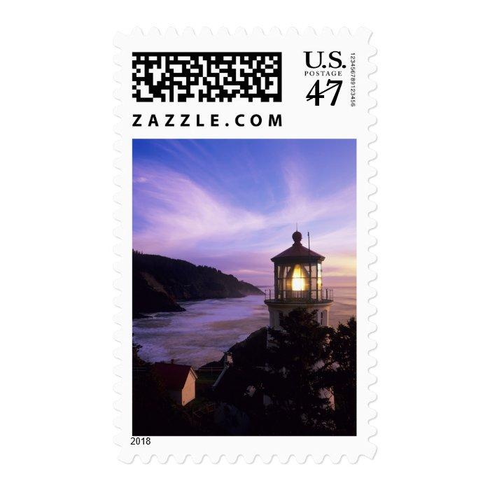 OR, Oregon Coast, Heceta Head Lighthouse, on Postage