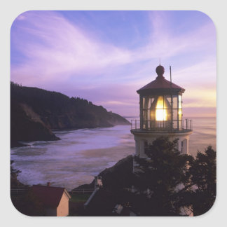 OR, Oregon Coast, Heceta Head Lighthouse, on Square Sticker