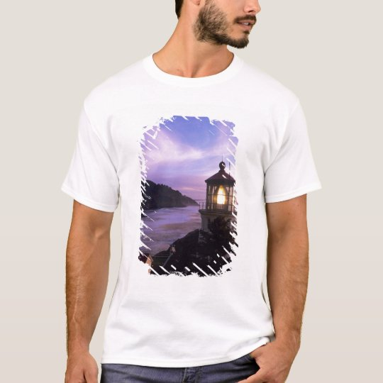 OR, Oregon Coast, Heceta Head Lighthouse, on T-Shirt