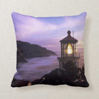 OR, Oregon Coast, Heceta Head Lighthouse on Throw Pillow