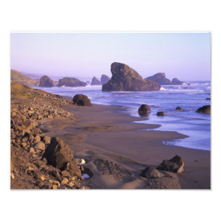 OR, Oregon Coast, Myers Creek, rock formations Photographic Print