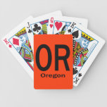 OR Oregon plain black Deck Of Cards