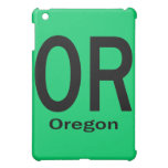 OR Oregon plain black iPad Mini Cases