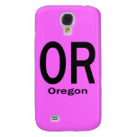 OR Oregon plain black Samsung Galaxy S4 Cover