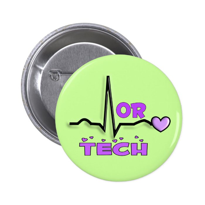 OR TECH Gifts--QRS Design Pinback Button