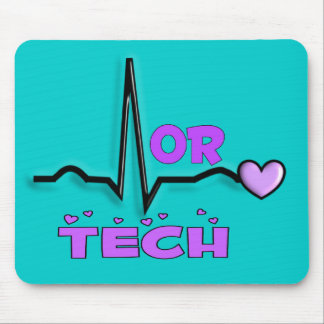 OR TECH Gifts, QRS segment design Mouse Pad