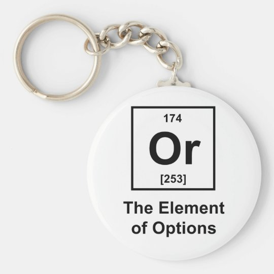 Or, The Element of Options Keychain