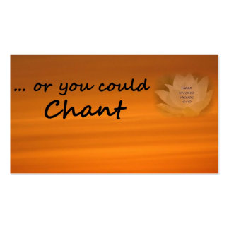 """""""Or You Could Chant"""" SGI Buddhist Business Card"""