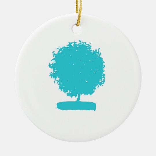 OrA002 Blue tree ornament