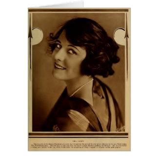 Ora Carew 1918 silent movie actress portrait Card