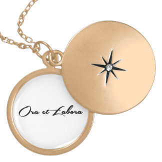 Ora et Labora Locket Necklace