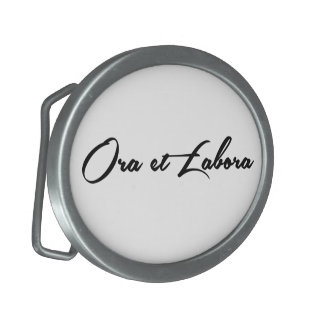 Ora et Labora Oval Belt Buckle