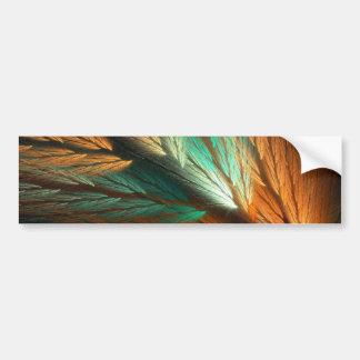Ora & G Abstract Fractal Background Bumper Sticker