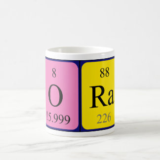 Ora periodic table name mug