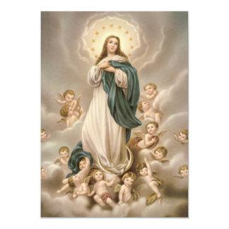 """Oração a Nossa Senhora da Conceição 5"""" X 7"""" Invitation Card"""
