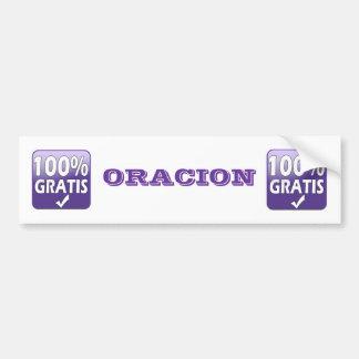 ORACION bumper sticker