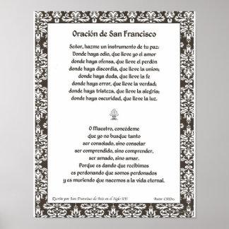 Oracion de San Fransisco Poster