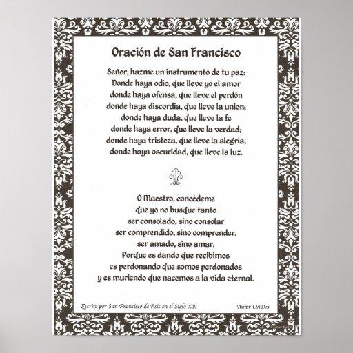 Oracion de San Fransisco Póster