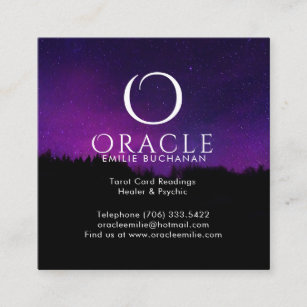 Oracle business cards templates zazzle oracle and psychic business cards colourmoves