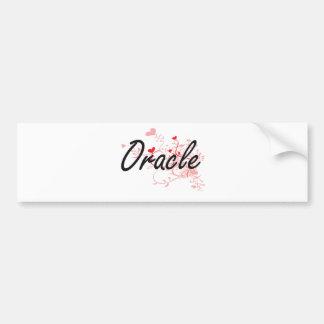 Oracle Artistic Job Design with Hearts Car Bumper Sticker