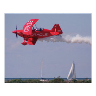 Oracle Challenger Over Lake Erie Poster