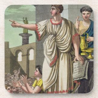 """Orador romano, de """"L'Antica Roma"""", 1825 (color l Posavasos De Bebida"""