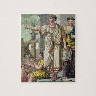 "Orador romano, de ""L'Antica Roma"", 1825 (color l Puzzle"