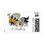 O'Rafferty Family Crest Postage Stamps