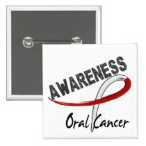 Oral Cancer Awareness 3 Pinback Button