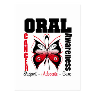 Oral Cancer Awareness Butterfly Postcard