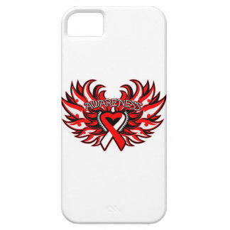 Oral Cancer Awareness Heart Wings iPhone SE/5/5s Case