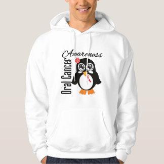Oral Cancer Awareness Penguin Hoodie