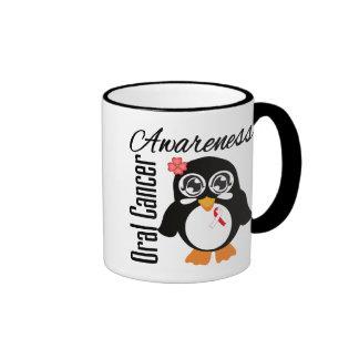 Oral Cancer Awareness Penguin Ringer Coffee Mug